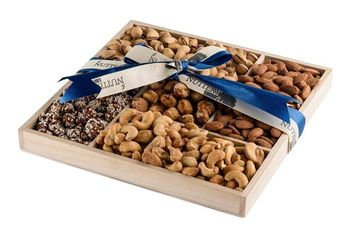 The Nuttery Ny The Nuttery Deluxe Roasted Nuts Classic Holiday Gift Basket