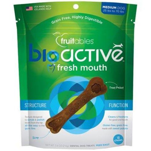 Fruitables BioActive Fresh Mouth Dental Chews [Options : Medium (Single)]