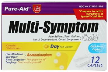 Dollaritem Wholesale Multi Symptom Day & Night Cold Tablets 24Ct -Sold by 1 Case of 24 Pieces