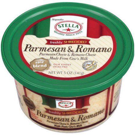 Stella Freshly Shredded Parmesan & Romano Cheese, 5 oz