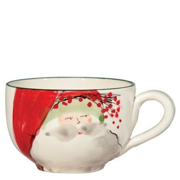 Vietri Holiday - Old St. Nick - Jumbo Cup