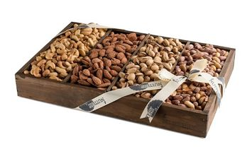 The Nuttery Ny The Nuttery Roasted Nuts Signature Wooden Gift Tray