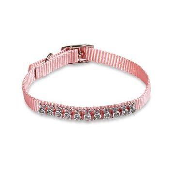 Hyper Pet Adjustable Novelty Rhinestone Dog Collar in Blush Pink