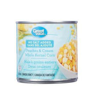 Great Value No Salt Peaches & Cream Whole Kernel Corn