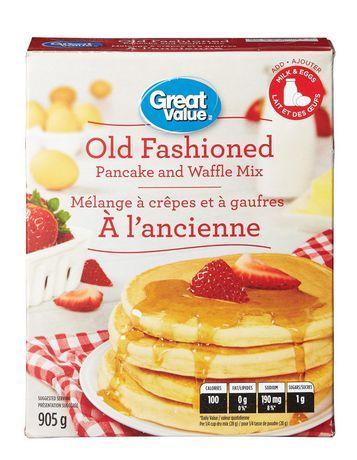 Great Value Original Add Milk And Eggs Pancake Mix