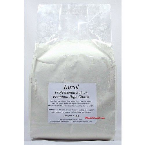 Kyrol Premium High Gluten Flour - Unbleached by ConAgra Mills - 7 lbs REPACK