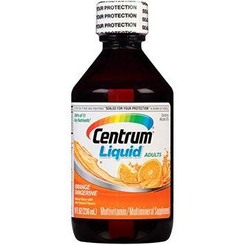 3 Pack Centrum Liquid Adults Orange Tangerine Multivitamin 8 Oz Each