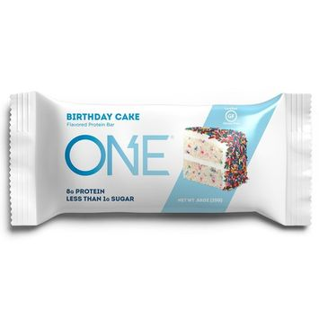 ONE Protein Bars MINI, Birthday Cake, Gluten Free Protein Bars with 8g Protein and less than 1g Sugar, Guilt-Free Snacking for High Protein Diets, .88 oz (30 Pack)