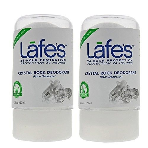 Lafe's Crystal Rock Deodorant (Pack of 2) With Natural Mineral Salts, 4.25 oz Each