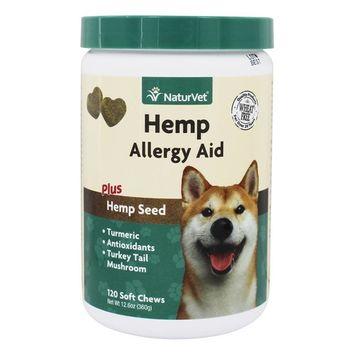 Hemp Allergy Aid For Dogs Plus Hemp Seed - 120 Soft Chews