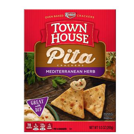 Keebler, Town House, Oven Baked Pita Crackers, Mediterranean Herb
