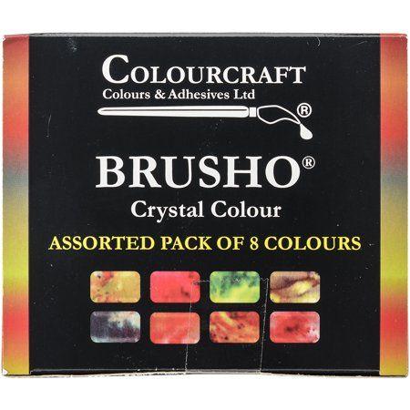 Brusho Crystal Colours Set 8/Pkg-