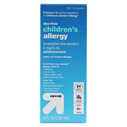 Children's Loratadine Allergy Relief Liquid - Grape- 4oz - Up&Up™ (Compare to active ingredient in Children's Clartin Allergy)