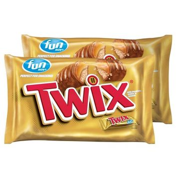 TWIX Caramel Fun Size Chocolate Cookie Bar Candy 20.62-Ounce Bag (Pack of 2)