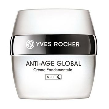 Yves Rocher Anti-Age Global Complete Anti-aging Night Care Cream, 50 ml (Imported from France/ Not Available in USA)