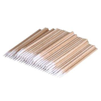 FTXJ 100Pcs Microblading Cotton Swab Medical Cure Health Makeup Stick Brushes