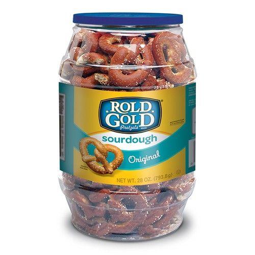 Rold Gold Sourdough Pretzel Barrel, 28 Ounce Barrel, 2 Pack [Sourdough Pretzels]