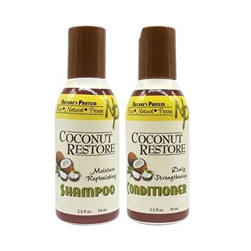 Nature's Protein Coconut Restore Shampoo & Conditioner Set 2.5oz by Tokki Beauty