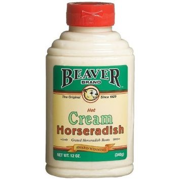 BEAVER Brand Cream Style Horseradish 12 OZ Squeezable Bottle (Pack of 2)