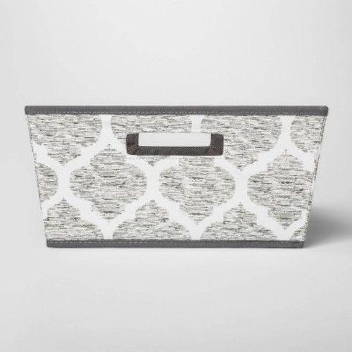 Fabric Half Bin Gray Pattern - Threshold™