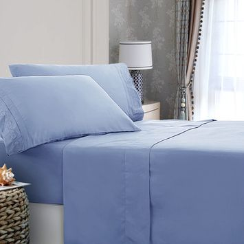 Microfiber Embroidery Bed Sheet Set with Pillowcase (3 or 4-Piece)