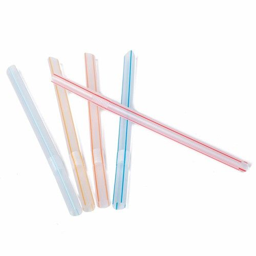 8 Inch Jumbo Large Flexible Boba Drinking Straws Pointed Tip 250 Pack Assortment 3 Colors Red Blue Yellow Smoothie Milk Tea Green Tea Beverage Straw Birthdays Parties Celebrations