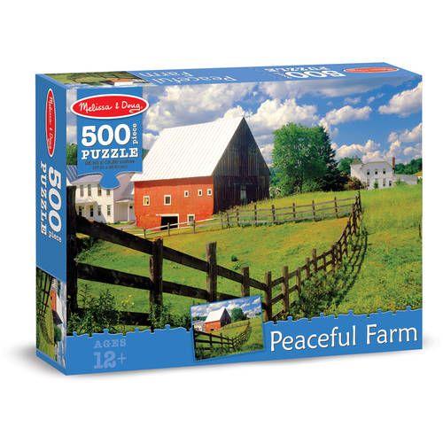 Melissa & Doug 500-Piece Peaceful Farm Jigsaw Puzzle