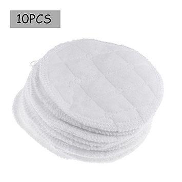 Freebily 10pcs Women Round Washable Reusable Soft Cotton Absorbent Nursing Pads Breast Pads Breastfeeding Pads