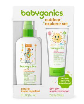 Babyganics Sunscreen Lotion 50 SPF and Bug Spray, 2oz/ 6oz
