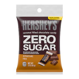 Hershey'S Zero Sugar Caramel Filled Chocolate Candy