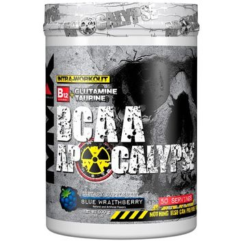 MuscleMaxx, BCAA Apocalypse, Intra-Workout, B12 + Glutamine + Taurine, Blue Wraithberry, 17.63 oz (500 g) [Flavor : Blue Wraithberry]