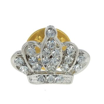HSF Women's Royal Queen King Crown Rhinestone Bouquet Pin Brooch