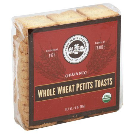 Organic Whole Wheat Mini Toasts by Les Trois Petits Cochons  (2.8 ounce)