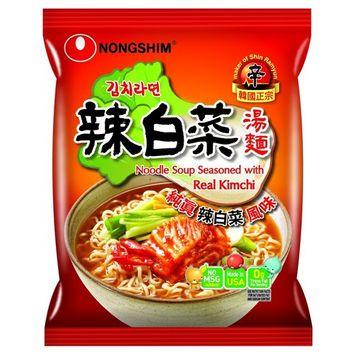 NongShim Noodle Soup, Kimchi, 4.2 Ounce