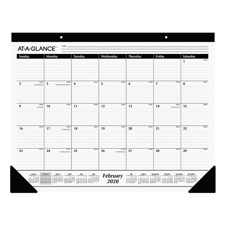 """AT-A-GLANCE� Professional Monthly Desk Pad, 17"""" x 21-3/4"""", January To December 2020, AAGSK2400"""