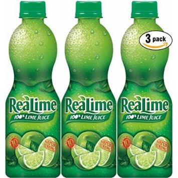 ReaLime 100% Lime Juice, 15oz Bottle (Pack of 3, Total of 45 Oz)