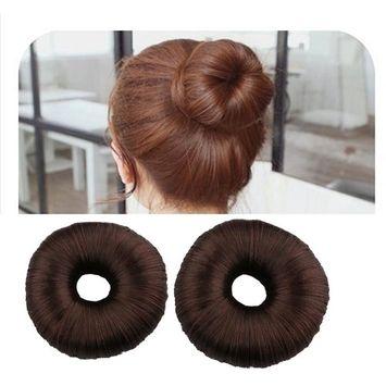Haresle 2 Pack Women Hair Bun Maker French Twist Donut Bun for Long Hair