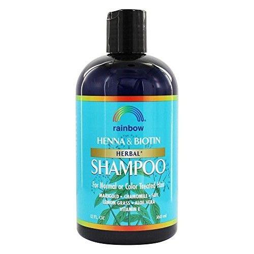 3 Packs of Rainbow Research Herbal Henna Biotin Shampoo