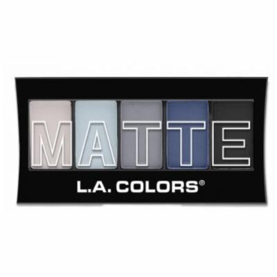 (6 Pack) L.A. Colors Matte Eyeshadow Blue Denim