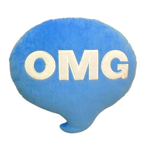 Creazy Throw Follow Chat Pillow Cushion Plush Toy (Blue)