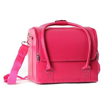 Lookatool Professional Makeup Beauty Case Fashion Portable Cosmetic Case (hot pink)