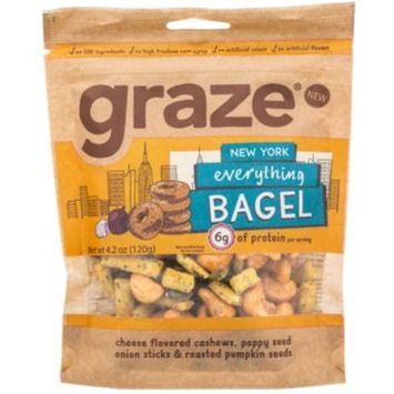 EVERYTHING BAGEL (4.2 Ounces Snacks) by Graze at the Vitamin Shoppe