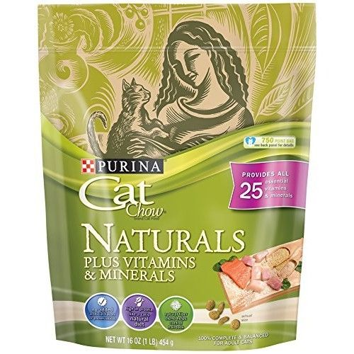 Purina Cat Chow Naturals Original With Real Chicken & Salmon Adult Dry Cat Food [Frustration-Free Packaging, Chicken & Salmon]