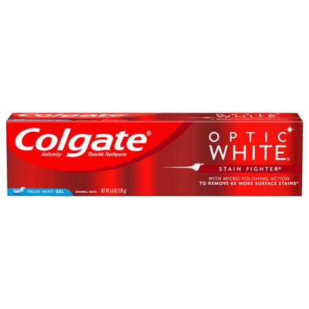 Colgate Optic White Stain Fighter Fresh Mint Gel - 6 ounce
