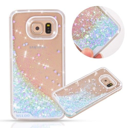 Urberry Galaxy Note 8 Case, Running Glitter Cover, Creative Design Flowing Liquid Floating Luxury Bling Glitter Sparkle Hard Case for Samsung Galaxy Note 8 with a Screen Protector