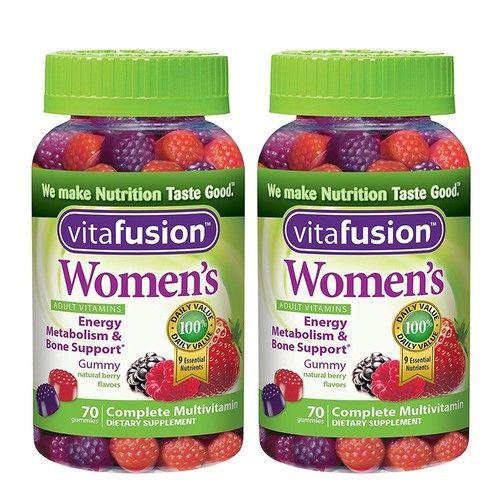 Women's Gummy Vitamins, 70 Count (2 Bottles)