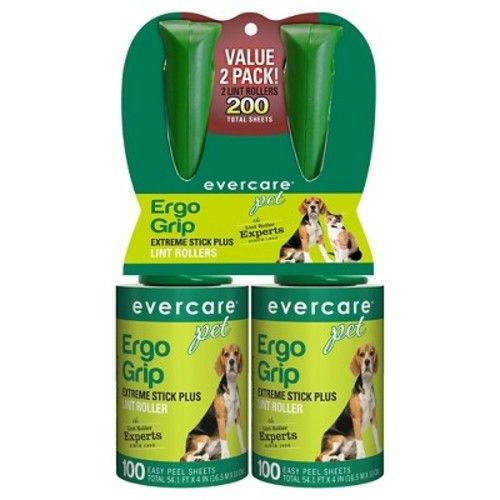 Evercare® Pet Lint Roller 100 Sheet Twin Pack