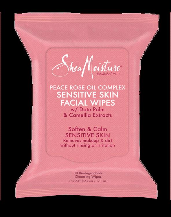SheaMoisture Peace Rose Oil Complex Sensitive Skin Facial Wipes