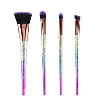 Oshide 4Pcs Professional Makeup Brush Set Foundation Eyeshadow Eyebrow Brush Kit