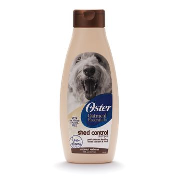 Oster Oatmeal Essentials Shed Control Dog Shampoo With Coconut Verbena Scent, 18 Oz.